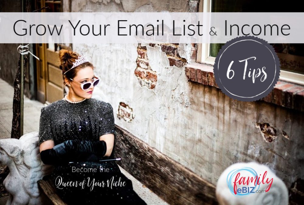 how to grow your  email list & income